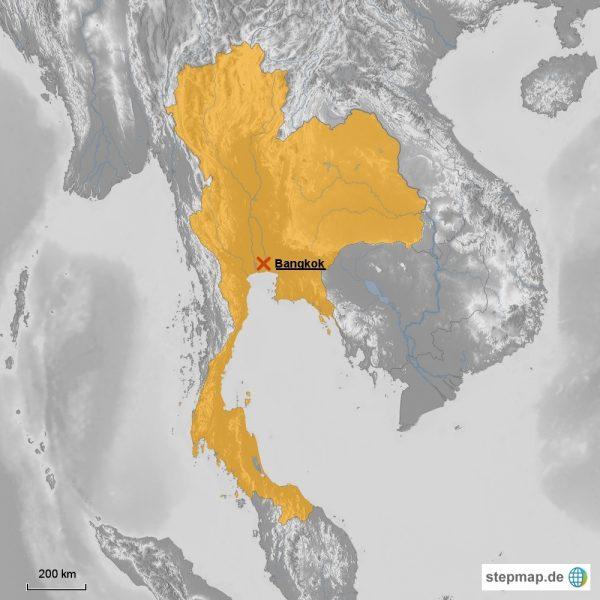Malaria Karte Thailand.Thailand Backpacker Footsteps